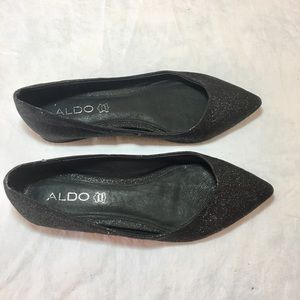 Aldo glitter ballet flat shoes size 8